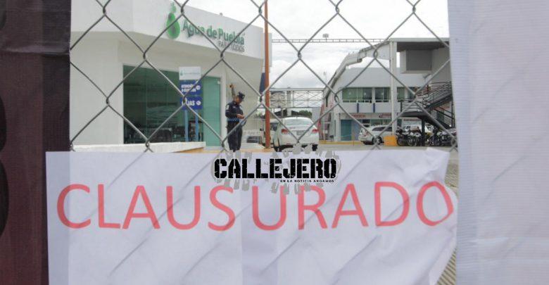Clausuran Simbólicamente Módulo De Agua De Puebla En Plaza